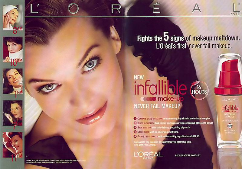 Oreal celebrity models gallery