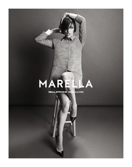 Milla jovovich for marella fall